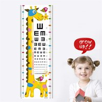 Wholesale Giraffe Chart Cartoon Children Room Height Wallpaper From Mother to Child Gifts Home Decoration Stickers Drop Shipping