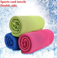 Wholesale DHL free shippping cm Summer Sports Ice Cooling Towel Cold Towel Double Hypothermia cool Towel for sports children Adult cooled towel