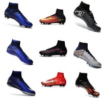 Wholesale 2016 Superfly High Ankle FG CR7 Soccer Boots CR7 Cleats Men shoes Soccer Shoes sports Shoes