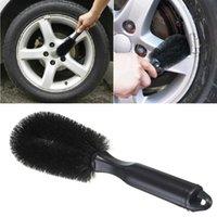 auto paint cleaner - universal Practical Wheel Auto Car Brush Tools Truck Motorcycle Bike Wash Cleaner Tire Rim Scrub Brush Good Helper High Quality