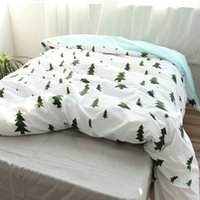 Wholesale 100 Cotton Tree Duvet Cover Fabric Colourful Single Twin double Queen King Size Modern Simple Kids Comforter Cover White