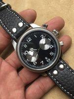 aviation leather - 42mm American KHAKI FEILD NAVY AVIATION H60416533 CHRONOGRAPH AUTOMATIC men WATCH antimagnetic sapphire glass men s wristwatch