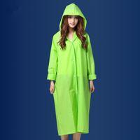 Wholesale Fashion EVA Women Raincoat Thickened M L XL Waterproof Rain Coat Women Clear Transparent Raincoat Colors Raincoats Rain Suit