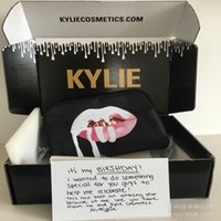 Wholesale Dropshipping Kylie bags Cosmetics Birthday Bundle Bronze Kyliner Copper Creme Shadow Makeup Bag DHL free Ship