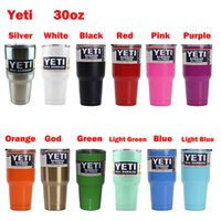 aluminum tumblers - 30oz Color Yeti Rambler Tumbler Stainless Steel Vacuum Insulated Cup Double Walled Travel Mug Car Cup