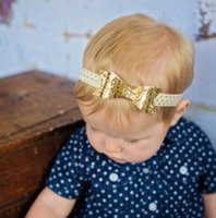 babies parenting - Hug Me Headbands For Girls Pearl Baby Girls elastic hair bow ties Baby Golden leaves Parenting Sequins Accessproes BB