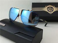 Wholesale DITA CASCAIS new classic style sunglasses ladies brand designers metal square retro men design Usher super gold plate diamonds