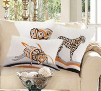 Wholesale Mediterranean home decor striped animal pillow styles Mordern home decorative cushion case