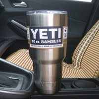 stainless steel spoon - Yeti Rambler Tumbler Cups oz YETI Cups Cars Beer Mug Double Wall Bilayer Vacuum Insulated Stainless Steel ml Large Capacity