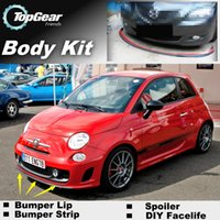 Wholesale Bumper Lip Lips For Fiat Abarth C Front Skirt Deflector Spoiler For Car Tuning The Stig Recommend Body Kit Strip