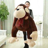 ape monkey - 2016 High quality cm the Biggest Stuffed Super Soft Plush Large Animal Orang Monkey Ape Toy Nice Baby Gift