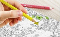artist children - A816 colour pencil Write painting Tin Water soluble pencil Student children Non toxic Secret Garden Coloring Artist Sketch