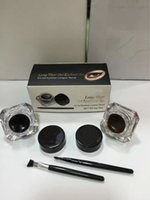 Wholesale Hot Eyeliner Kit Long wear Gel Liner set with eye brushes Genuine Quality Liquid Eyeliner Makeup Free Ship