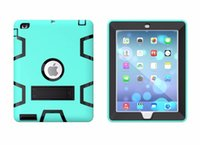 amazon silicone cover - DHL PC Silicone Shockproof Tablet Case Hybrid Robot Back Cover with Stand Hang For quot Tablet