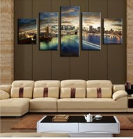 beauty scenes - The Beauty Of The City Night Scene Modern Wall Painting Panels Wall Art Large HD Top rated Canvas Oil Painting For Living Room