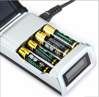 aa nimh intelligent charger - Universal C905W Slots LCD Display Smart Intelligent li ion Battery Charger for AA AAA NiCd NiMh Rechargeable Batteries EU US Plug choice