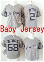 baby york - 2016 Baby NY New York yankees Jerseys infant Derek Jeter Baseball Flexbase trottie Jersey Dellin Betances Cool Base nursling Jersey