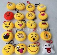 Wholesale 20 models cm plush toys beautiful key ring pendant new fashion expression plush toys A20