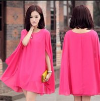 Wholesale New Korean Spring And Summer maternity clothing plus size Cloak chiffon dress Prom Dress