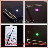 Wholesale Fashion Back LED Light Logo for iPhone S Plus S Plus Night Glow Cool Logo for Apple