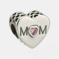 Wholesale MOM charms sterling silver Fits For Pandora Style Bracelets mothers day H9