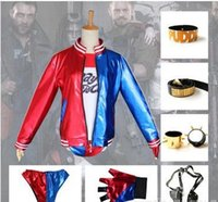 Wholesale Suicide Squad Harley Quinn Costume Halloween Batman Harley Quinn DC Comic Suicide Squad Cosplay Costume Full set