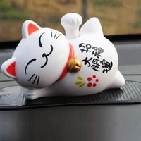 Wholesale Genuine Lucky Cat Car decoration car solar toys automotive supplies automotive interiors