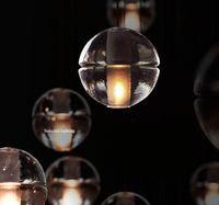Wholesale Living Room Lamp Drop - Modern Chandelier Rain Drop Lighting Glass Crystal Ball Fixture Pendant Ceiling Lamp 110V 220V Dining Lighting