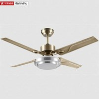 Wholesale New Fashion Bronze color modern quiet ceiling fans with lights Diameter cm lamp W Fan W really no voice