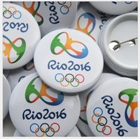baseball diameter - Brazil Rio Olympic games Badges Fashion Souvenir badge collectible Diameter mm Paralympic Christmas Gifts Popular Badges