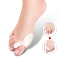 Wholesale Pair Gel Bunion Toe Separator Eases Foot Pain Foot Hallux Valgus Guard Cushion Toe spreator foot Care Tool
