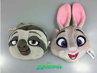 Wholesale zootopia baby plush toys cartoon rabbit purse style fashion treasure bag pendant cheap cotton bags factory direct A20