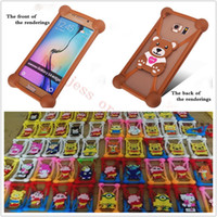 Wholesale Cute Mobile Pouches - Hot Universa Mobile Phone Silicone Case 3D Cute Soft Cartoon Universal Soft Frame For Iphone6S 6 Plus Samsung Galaxy S7 n Other Cell Phone