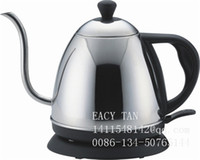 Wholesale 1 L High quality Staniless steel Electric Kettle with long spout base on GS Standard VDE plug