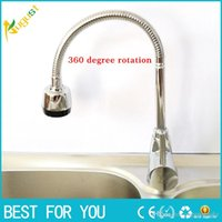 Wholesale Solid Brass Kitchen Mixer Cold and Hot Kitchen Tap Single Hole Water Tap Kitchen tool Faucet torneira cozinha