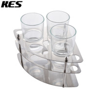 bamboo toothbrush holder - KES Multi Toothbrush Stand Holder Organizer with Three Glass Tumbler SUS Stainless Steel Brushed Finish BTS202