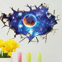 Wholesale High quality Fashion PVC D Art Space Waterproof Removable Living Room Bedroom Wall Sticker