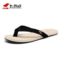 al por mayor zapatilla de hombre para el cuero-Zapatillas Zapatillas moda Zapatillas Flip hombres Zapatillas Playa Verano Sandalias de cuero Fashion Slides