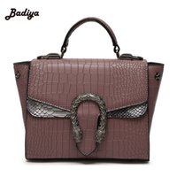 alligator skin handbags - High Quality Leather Shoulder Bag Vintage Alligator Skin Women Bags European Style Snake Hasp Handbag For Woman Messenger Bags