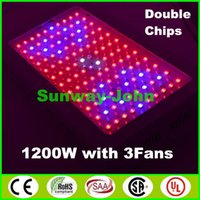 Wholesale 2016 double chip LED grow light panel W W Band Red Blue White UV IR Full Spectrum Led Plant Growing Lighting Lamps