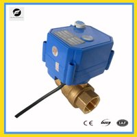 Wholesale CWX S DN20 brass way motorized ball valve AC220v CR04 two wires electric ball valve with manual override function