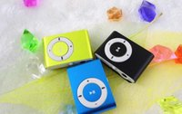 Wholesale Mini Clip MP3 Player Cheap Sport Style Metal MP3 Players without Screen No spare parts gift