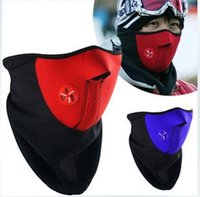 Wholesale Motorcycle Half Face Mask Winter Warm Outdoor Sport Ski Mask Ride Bike Cap CS Mask Neoprene Bicycle Cycling Snowboard Neck Veil