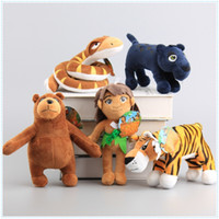 animals jungle book - 5 Style cm Movie The Jungle Book Plush Toys Mowgli Tiger Shere Khan Snake Kaa Bear Animals Figure Stuffed Dolls