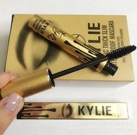 Wholesale 2016 Newest Kylie Jenner Mascara Magic thick slim waterproof mascara Black Eye Mascara Long Eyelash Cosmetic Gold Birthday Package