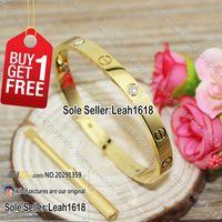 bangle box - Love Screws Bracelets Yellow Gold Stones New Version Screws Style Bangles Fashion Jewelry Brand K Gold Plated With Box Screwdriver