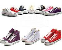 Revisiones Hombres zapatos nuevos estilos-Con caja Nuevos zapatos de lona de la manera Mujeres / zapatos ocasionales de los hombres Zapatos planos del estilo alto clásico 35-44 yardas