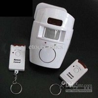 Wholesale Independent Home Security PIR Motion Sensor Alarm with Remote Control Lots100
