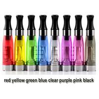 Wholesale CE4 eGo Atomizer CE4 Clearomizer ml ohm vapor tank Round Tips E Cigarette colors wicks CE4 CE5
