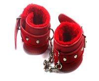 adult cosplay costumes - Red PU Leather Hand Cuffs Couple Adults Games Toy Fetish Restraint Bondage Sex Toys Cosplay Costume Tools Sex Products